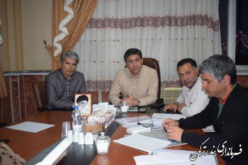 ششمین جلسه اضطراری شورای هماهنگی مدیریت بحران شهرستان ترکمن برگزار شد