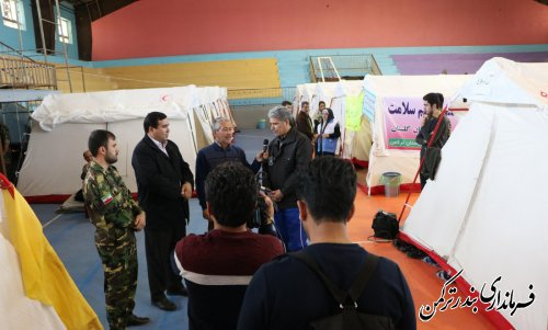 گفتگوی زنده فرماندار ترکمن با شبکه تلویزیونی افق