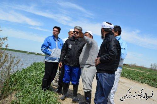 بازدید فرماندار ترکمن از روستای اسلام تپه