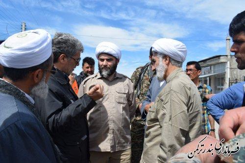 بازدید فرماندار ترکمن از روستای گامیشلی نزار