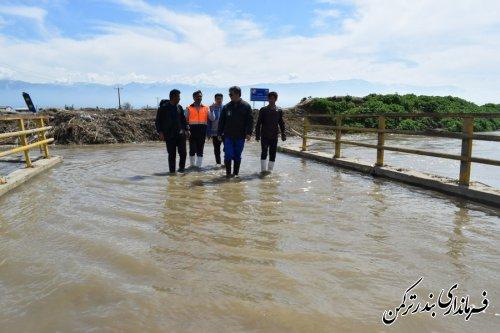 بازدید فرماندار ترکمن از روستای خمرآباد