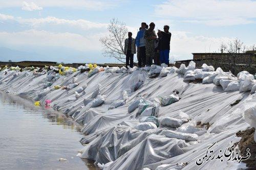 بازدید فرماندار ترکمن از روستای محمدآباد