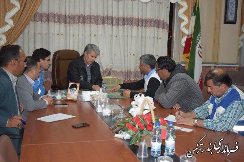 نهمین جلسه اضطراری شورای هماهنگی مدیریت بحران شهرستان ترکمن برگزار شد
