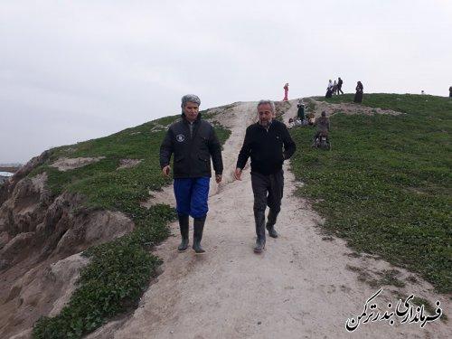 بازدید کارشناسی فرماندار ترکمن برای یافتن راهکار مهار روان¬آب های جاری شده در محدوده روستاهای قره تپه، صفرحاجی، پیخی حاجی و قره قاشلی