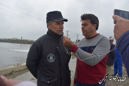 تشریح اقدامات جهت هدایت سیلاب قره سو در دهانه پل نیازآباد و قره تپه