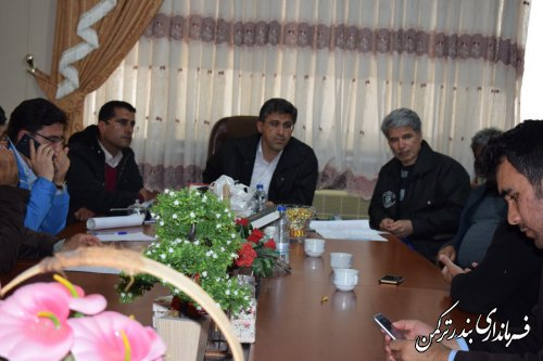 یازدهمین جلسه اضطراری شورای هماهنگی مدیریت بحران شهرستان ترکمن برگزار شد