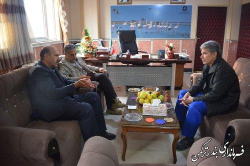دیدار معاون سیاسی، امنیتی و اجتماعی استاندار با فرماندار ترکمن