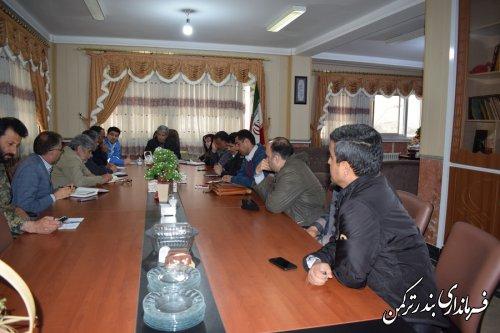 دوازدهمین جلسه اضطراری شورای هماهنگی مدیریت بحران شهرستان ترکمن برگزار شد