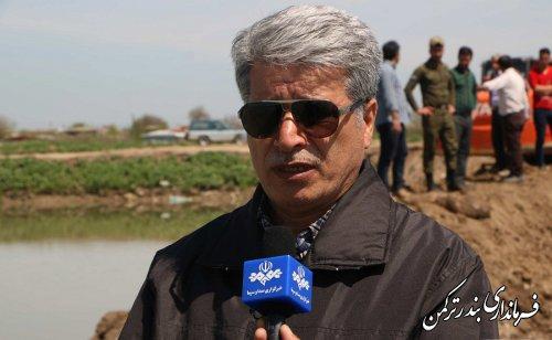 فرماندار ترکمن به ارائه گزارشی از اقدامات برای جلوگیری از سیل در شهرستان پرداخت
