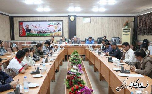 چهاردهمین جلسه مدیریت بحران شهرستان ترکمن برگزار شد