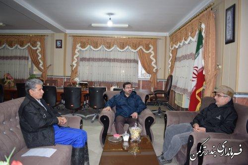 دیدار مدیرکل مدیریت بحران استان با فرماندار ترکمن