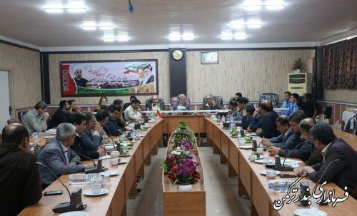 جلسه شورای هماهنگی مدیریت بحران شهرستان ترکمن برگزار شد