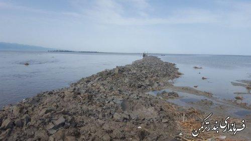 پیگیری لایروبی مصب کانال اورکت حاجی توسط فرماندار ترکمن