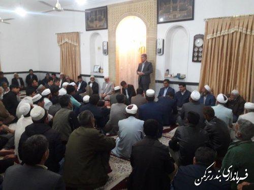 مراسم تقدیر از فرماندار و مسئولین شهرستان ترکمن در کنترل و مهار سیلاب در روستای اسلام تپه
