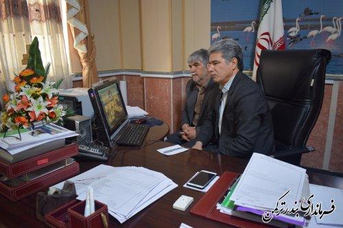 جلسه ویدئو کنفرانس درخصوص برآورد خسارت های بخش کشاورزی شهرستان ترکمن برگزار شد