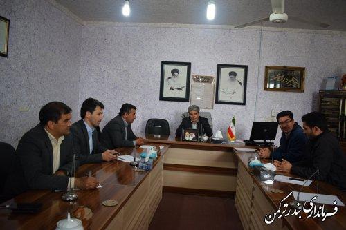 دیدار فرماندار ترکمن با اعضای شورای اسلامی شهر بندرترکمن