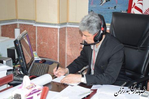 حضور فرماندار ترکمن در دومین جلسه ویدئو کنفرانس انتخابات استان