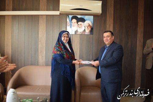 تجلیل از معاون سیاسی، امنیتی و اجتماعی فرماندار ترکمن