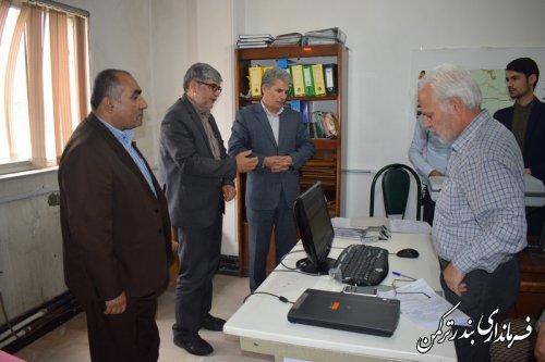 بازدید فرماندار ترکمن از روند تکمیل فرم خسارات محصولات کشاورزی شهرستان در سامانه سجاد