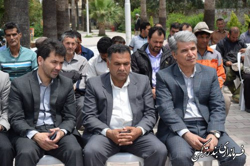 مراسم گرامیداشت روز جهانی کارگر در شهرستان ترکمن برگزار شد