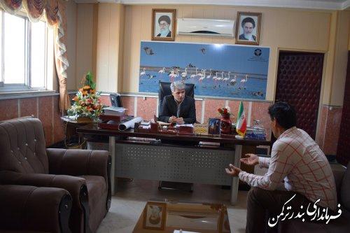 ملاقات عمومی فرماندار ترکمن برگزار شد