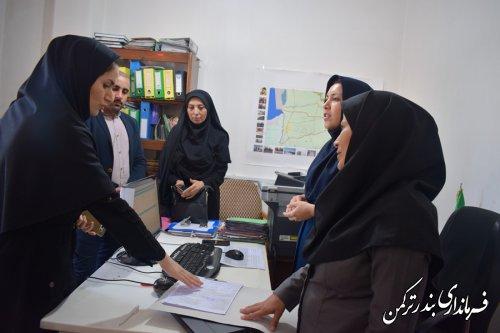 دیدار  مدیر فناوری اطلاعات و شبکه دولت استانداری با فرماندار ترکمن