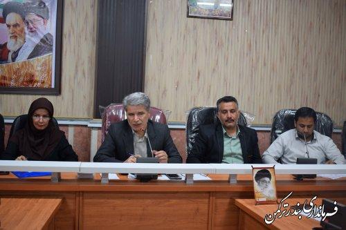 جلسه کمیته برنامه ریزی شهرستان ترکمن برگزار شد
