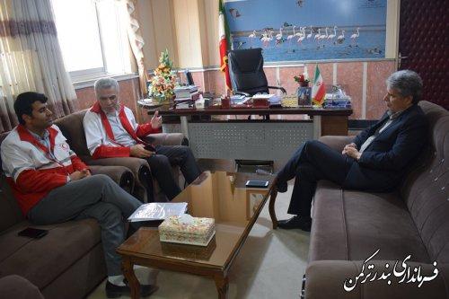 دیدار مدیر جمعیت هلال احمر استان با فرماندار ترکمن