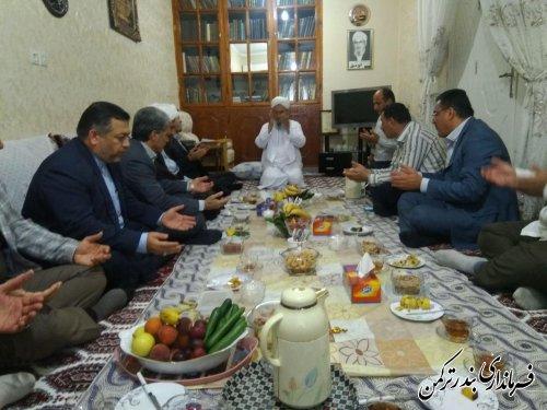 دیدار عیدانه فرماندار و مسئولین شهرستان ترکمن با ائمه جمعه شهرستان
