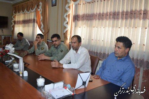 دیدار  رئیس و کارکنان حفاظت محیط زیست شهرستان ترکمن با فرماندار
