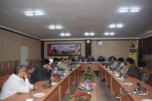 جلسه ستاد ساماندهی سواحل شهرستان ترکمن برگزار شد