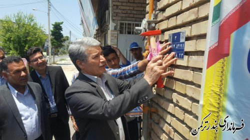 افتتاح طرح پلاک کوبی کدپستی در شهرستان ترکمن