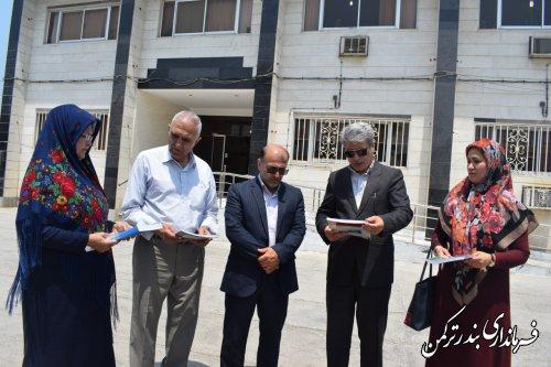 اهدای کتاب از سوی سازمان اسناد و کتابخانه ملی به کتابخانه عمومی شهرستان ترکمن