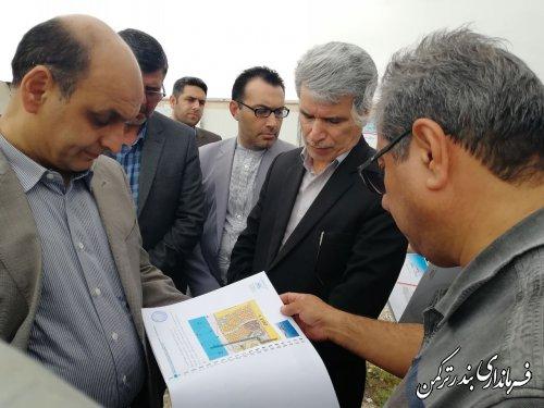 بازدید استاندار از پروژه گردشگری در شهرستان ترکمن