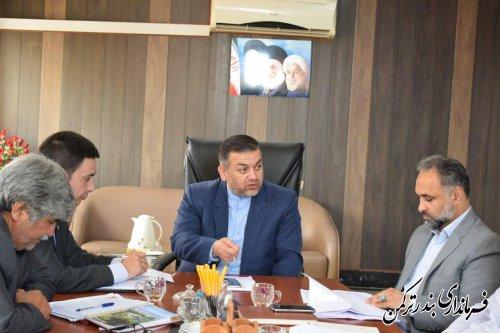 جلسه کمیسیون مبارزه با قاچاق کالا و ارز شهرستان ترکمن برگزار شد