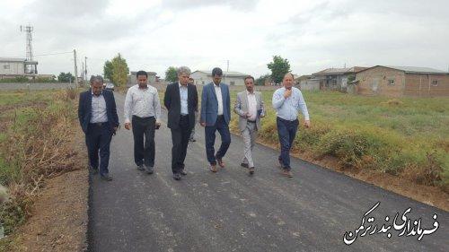بازدید فرماندار ترکمن از روند اجرای طرح هادی در روستاهای شهرستان
