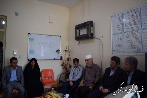 بازدید فرماندار ترکمن از موسسه نگهداری کودکان بدسرپرست و بی سرپرست طاها