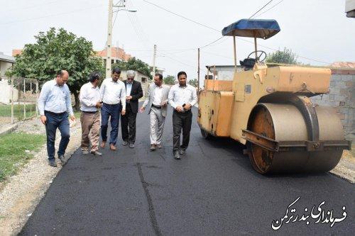 بازدید فرماندار از روند اجرای طرح هادی روستای پنج پیکر