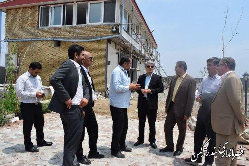 بازدید فرماندار ترکمن از پروژه گردشگری مجموعه سوارکاری همایون