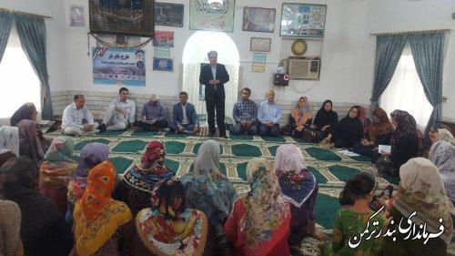 اجرای طرح بانویار در روستای گامیشلی نزار شهرستان ترکمن