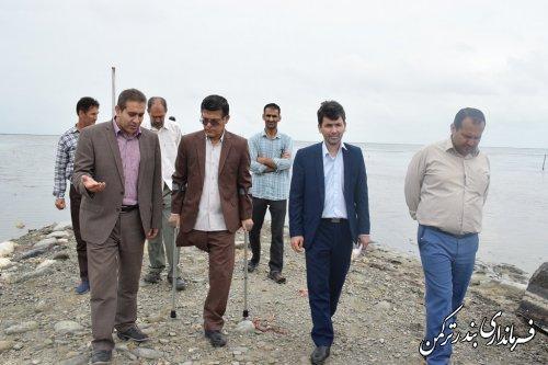 بازدید سرپرست اداره کل امور اجتماعی و فرهنگی استانداری از سواحل شهرستان ترکمن