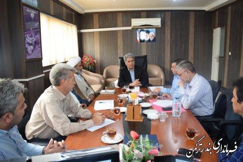 اولین جلسه شورای ثبت احوال شهرستان ترکمن برگزار  شد