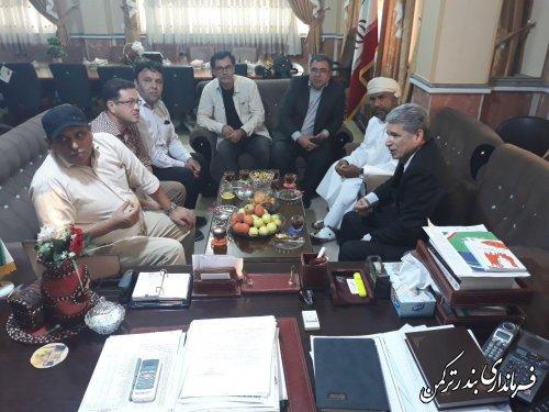 بررسی ظرفیت های سرمایه گذاری در شهرستان ترکمن توسط شیخ یونس الوهیبی نماینده شرکت سرمایه گزاری maxvell international عمان