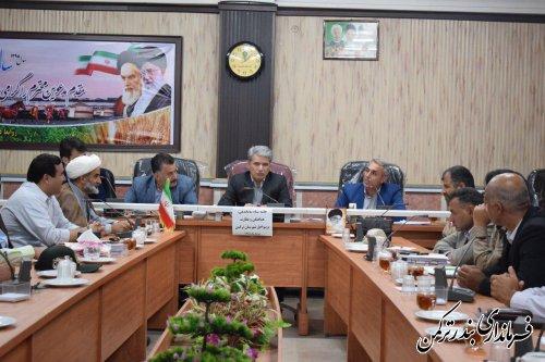 جلسه ستاد ساماندهی، هماهنگی و نظارت بر سواحل شهرستان ترکمن برگزار شد