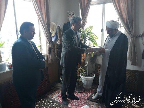 دیدار فرماندار ترکمن با امام جمعه شهرستان
