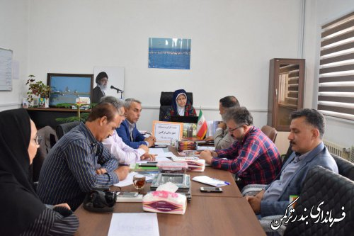 جلسه کارگروه مدیریت پسماند شهرستان ترکمن برگزار شد
