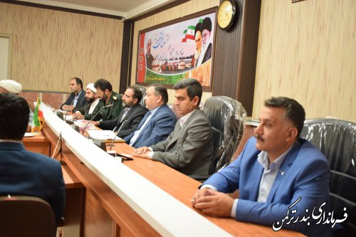 جلسه شورای هماهنگی حفظ آثار و نشر ارزشهای دفاع مقدس شهرستان ترکمن برگزار شد