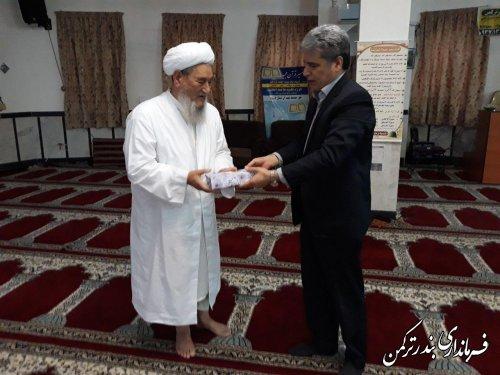 دیدار فرماندار با امامان جمعه شهرستان ترکمن