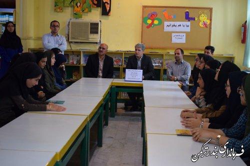 نشست صمیمی فرماندار ترکمن با جوانان و مسئولین سمن شهرستان