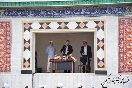 نماز باشکوه عید سعید قربان در شهرستان ترکمن برگزار شد